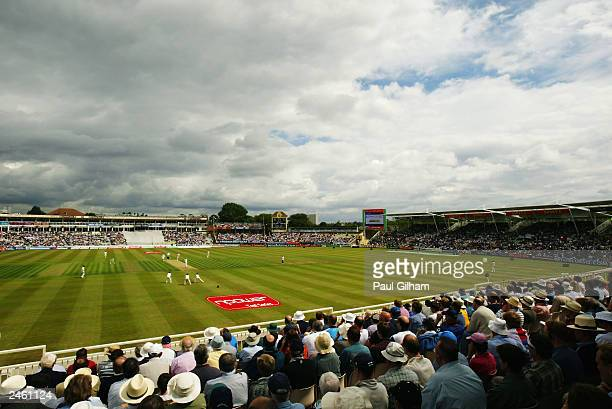 General view taken during the third day of the first npower test match between England and South Africa held on July 26 2003 at the Edgbaston Cricket...