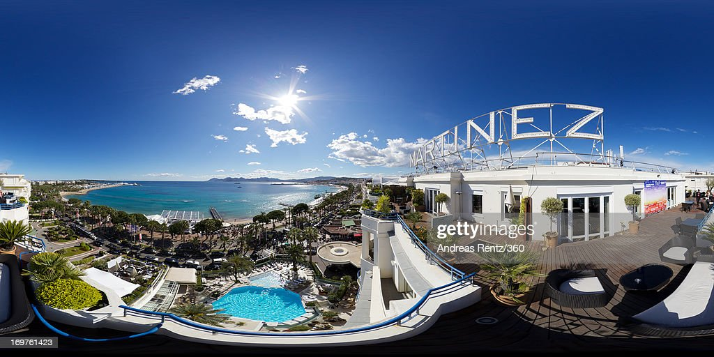 A general view taken from the balcony of the Hotel Martinez during The 66th Annual Cannes Film Festival on May 25 2013 in Cannes France