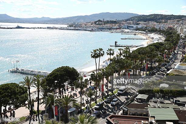 A general view taken from the Martinez hotel during The 66th Annual Cannes Film Festival on May 25 2013 in Cannes France