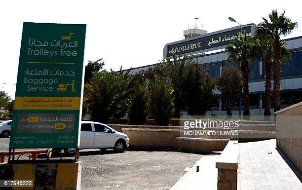 A general view taken in October 25 2016 shows Sanaa International Airport in the Yemeni capital Sanaa international airport was shut when the...