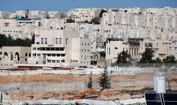 A general view taken on February 2 2017 shows buildings in Ramat Shlomo a Jewish settlement in the mainly Palestinian eastern sector of Jerusalem /...