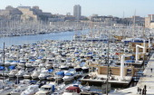 A general view taken on January 7 2013 shows the Vieux Port of Marseille southern France a week before the launching on January 12 2013 of...