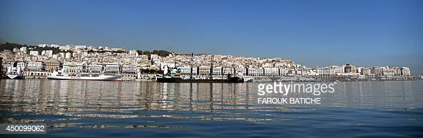 A general view taken on June 5 2014 shows the Bay of Algiers in the Algerian capital Algerian authorities plan to redevelop the Bay of Algiers by...