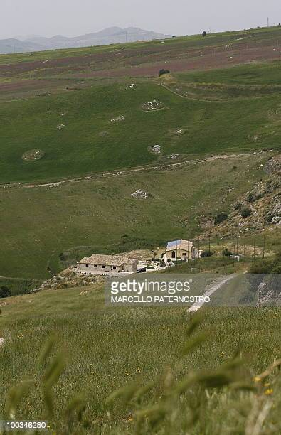A general view taken on May 14 2010 near Corleone on the Italian island of Sicily shows the 'Terre di Corleone' a bed and breakfast developped on...