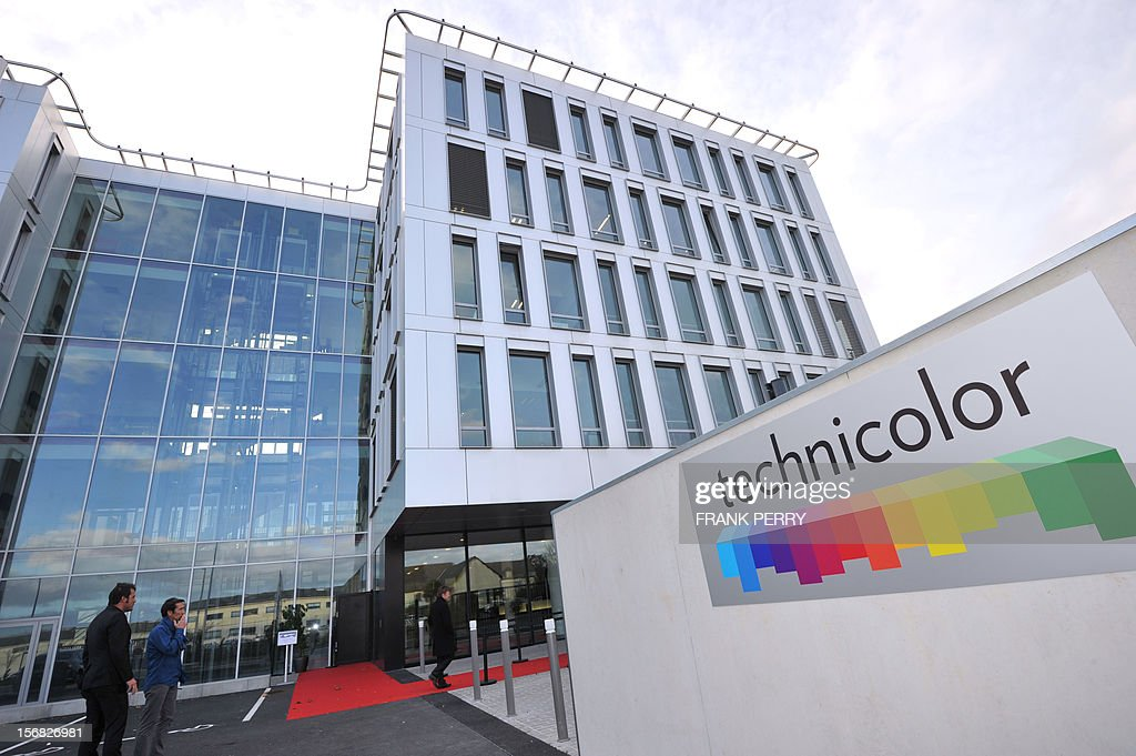 A general view taken on November 22, 2012, shows the French technology Technicolor research and development centre during its inauguration in Cesson-Sevigne, near the western city of Rennes. Technicolor, which rose from the ashes of French Thomson electronics group, is becoming the world specialist for cinema post-production. AFP PHOTO FRANK PERRY
