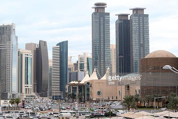 A general view taken on November 24 2015 shows Doha City Center shopping mall in the Qatari capital Doha Qatar's only directly elected body is to...