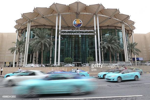 A general view taken on November 24 2015 shows the entrance to the Doha City Center shopping mall in the Qatari capital Doha Qatar's only directly...