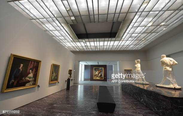 A general view taken on November 6 2017 shows a room at the Louvre Abu Dhabi Museum during a media tour prior to the official opening of the museum...