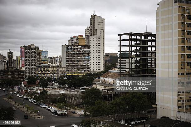 A general view taken on October 10 2014 shows buildings in central Maputo Mozambicans will cast their ballots in the general elections on October 15...