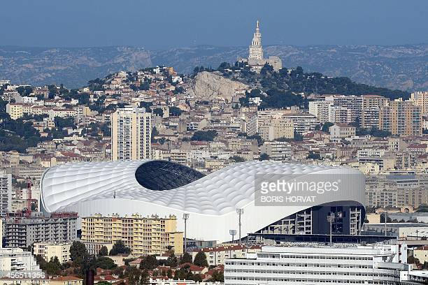 A general view taken on October 2 2014 shows the velodrome stadium in the southern French city of Marseille AFP PHOTO / BORIS HORVAT