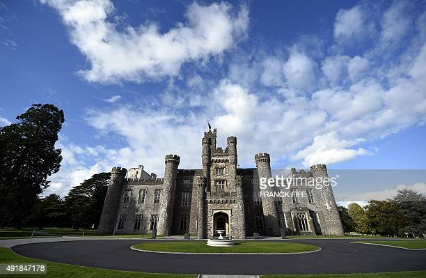A general view taken on October 8 2015 shows the late 17th / early 18th century mansion Hensol Castle now used as a wedding venue a former stately...