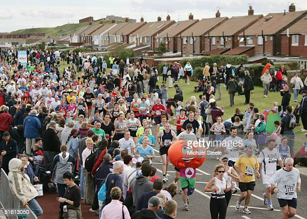 A general view the Bupa Great North Run at South Shields on September 26 2004 in Newcastle England