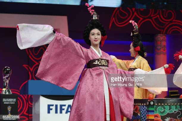 A general view the draw for the FIFA U20 World Cup Korea Republic 2017 at Suwon SK Artrium on March 15 2017 in Suwon South Korea