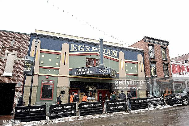 A general view the Egyptian Theater at the 2017 Sundance Film Festival on January 19 2017 in Park City Utah