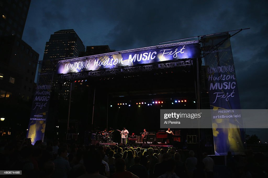 General View when Supergroup The Word performs at the Lowdown Hudson Music Festival Day Two at Brookfield Place on July 15 2015 in New York City