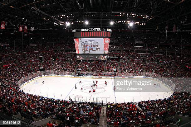 A general view while the Columbus Blue Jackets take on the Florida Panthers at the BBT Center on December 27 2015 in Sunrise Florida