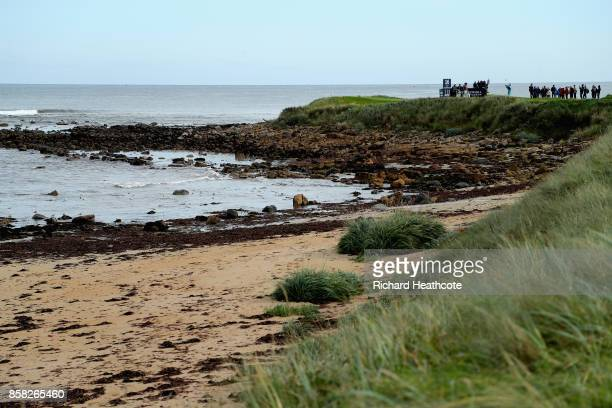 A general view whilst Mikko Ilonen of Finland tees off on the 16th during day two of the 2017 Alfred Dunhill Championship at Kingsbarns on October 6...