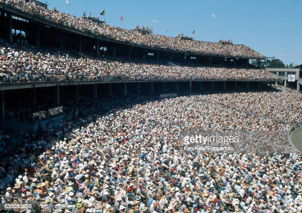 A general view with the crowd watching the 3rd Test match between Australia and West Indies at the MCG Melbourne 26th December 1975 The attendance on...