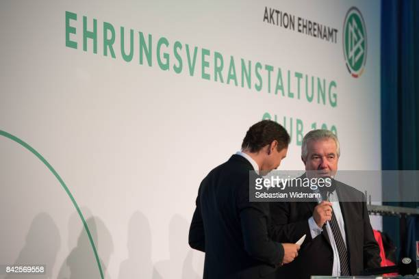 General viewduring the Awarding Ceremony at the 20th anniversary of Volunteering for the Club 100 at MercedesBenz Museum on September 4 2017 in...