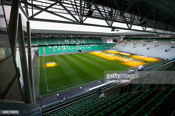 General Views at Stade GeoffroyGuichard on February 3 2016 in SaintEtienne France