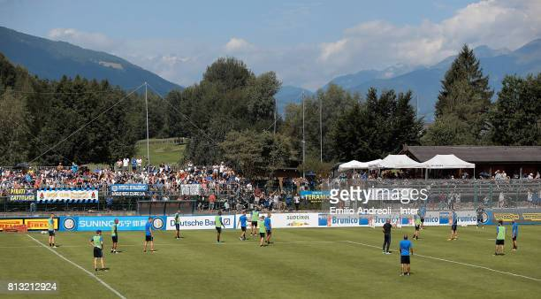 General views at the club's training ground during a FC Internazionale training session on July 12 2017 in Reischach near Bruneck Italy