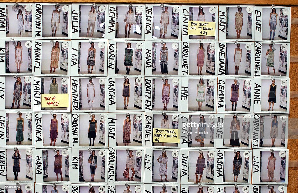 General views backstage at the Anna Sui Spring 2006 fashion show during Olympus Fashion Week at Bryant Park on September 14, 2005 in New York City.
