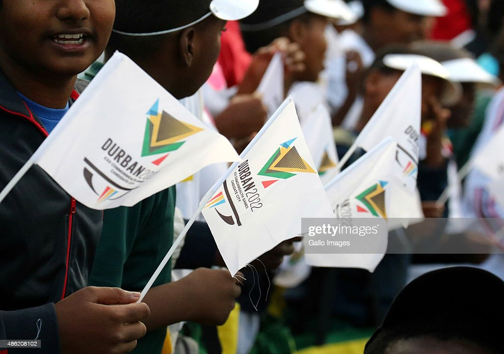 General views during the 2022 Commonwealth Games Bid Announcement Event at George Campbell School on September 02 2015 in Durban South Africa