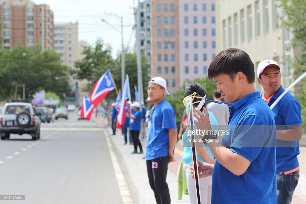 General views from the streets ahead of the parliamentary elections, which will be held tomorrow, in Ulaanbaatar, Mongolia on June 28, 2016.