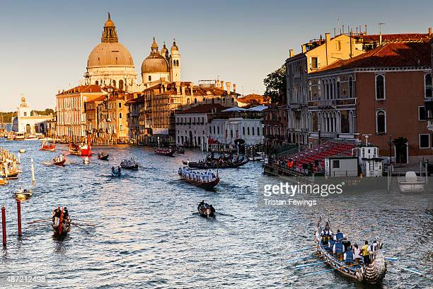 General views of atmosphere during the Regatta Storica during the 72nd Venice Film Festival on September 7 2015 in Venice Italy