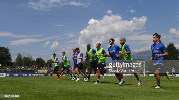 General views of FC Internazionale Milano Training Camp Venu on July 7 2017 in Reischach near Bruneck Italy