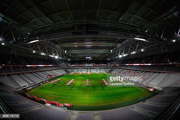 General Views of Grand Stade Lille Metropole during a media tour of UEFA Euro Venues France 2016 at Grand Stade Lille Métropole on February 2 2016 in...