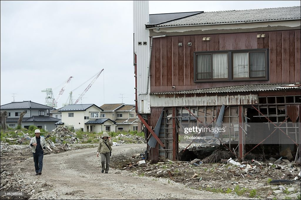 General views of Higashi Matsushima, Miyagi Prefecture ravaged by the tsunami during a visit by Princess Mathilde of Belgium on June 13, 2012 in Sendai, Japan. Prince Philippe and Princess Mathilde of Belgium are visiting Japan to strengthen economic and bilateral ties between Belgium and Japan.