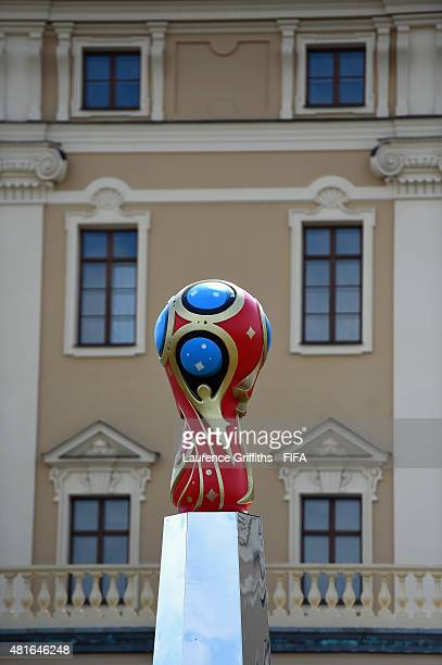 General views of Konstantin Palace the venue for the 2018 FIFA World Cup Preliminary Draw on on July 23 2015 in Saint Petersburg Russia