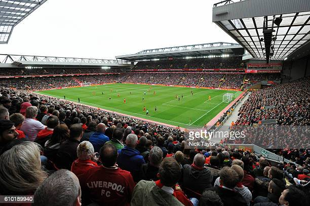 General Views of Liverpool ground during the Premier League match between Liverpool and Hull City at Anfield on September 24 2016 in Liverpool England