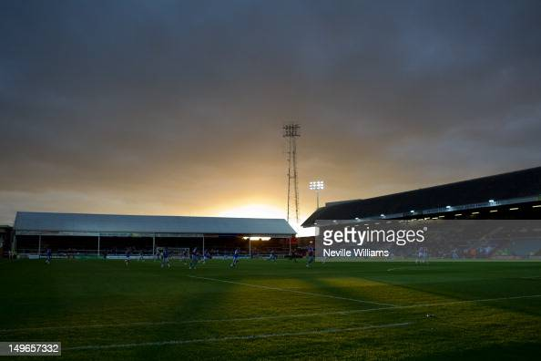 General views of London Road during the Pre Season Friendly match between Peterborough United and Aston Villa at London Road on August 1 2012 in...