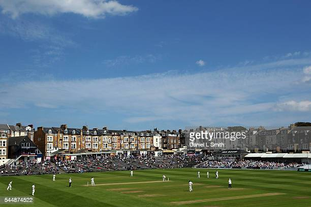 General views of North Marine Road during play during day two of the Specsavers County Championship division one match between Yorkshire and...