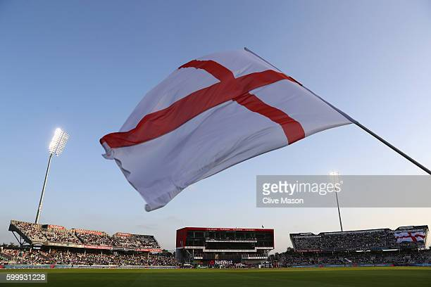 General views of Old Trafford prior to the NatWest International T20 match between England and Pakistan at Old Trafford on September 7 2016 in...