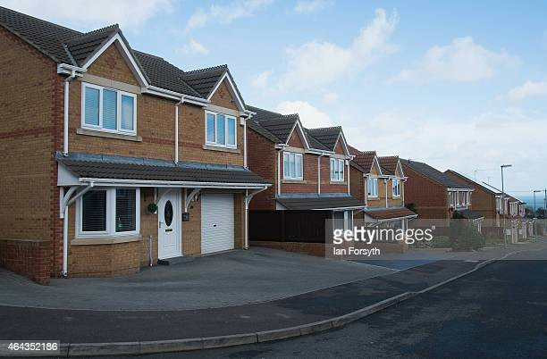 General views of properties in Horden a former East Durham mining village on February 24 2015 in Horden England The North east coastal town is part...