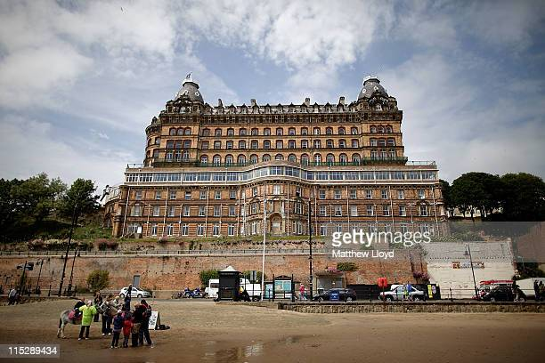 General views of Scarborough's Grand Hotel located close to the promenade on June 5 2011 in Scarborough England The traditional seaside holiday...