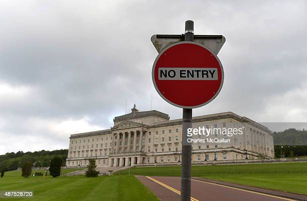 General views of Stormont and Parliment buildings on September 10 2015 in Belfast Northern Ireland A political crisis has erupted in the province...