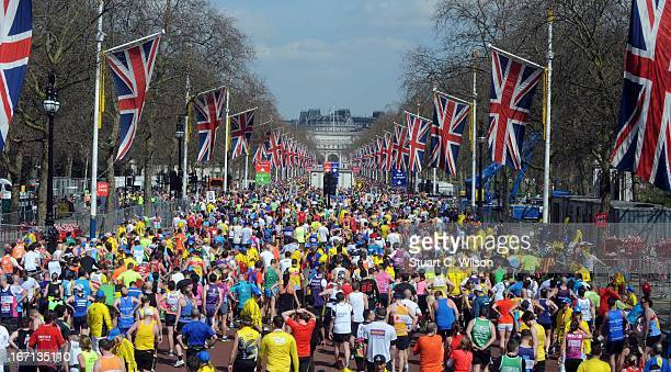 General Views of the 2013 Virgin London MArathon on April 21 2013 in London England