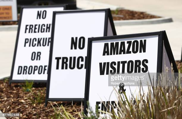 General views of the Amazon Fulfillment Centre on November 23 2017 in Melbourne Australia Amazon Australia started with a 'soft launch' on Thursday...