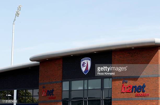 General views of the b2net stadium home of Chesterfield Football Club on April 25 2011 in Chesterfield England