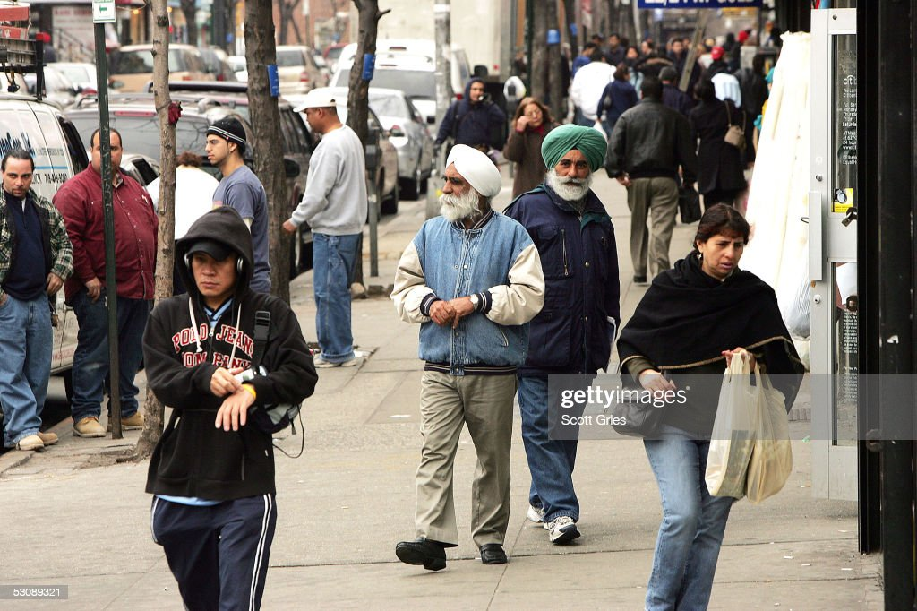 General views of the Indian Community of the Jackson Heights area of Queens, New York on April 4, 2005.