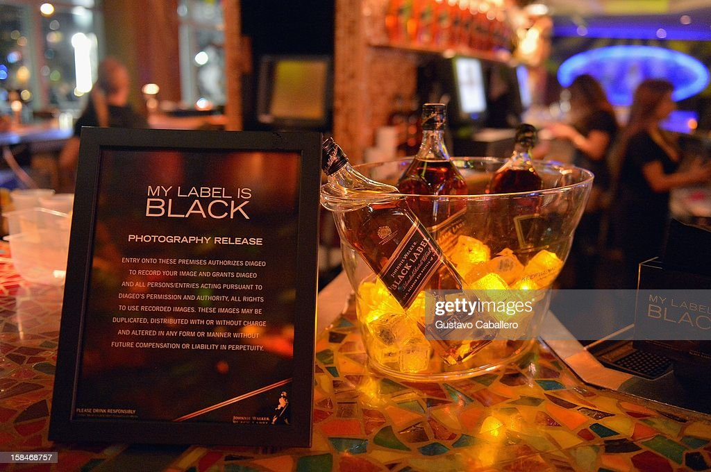 General views of the Johnnie Walker My Label is Black at Bongos on December 13, 2012 in Miami, Florida.