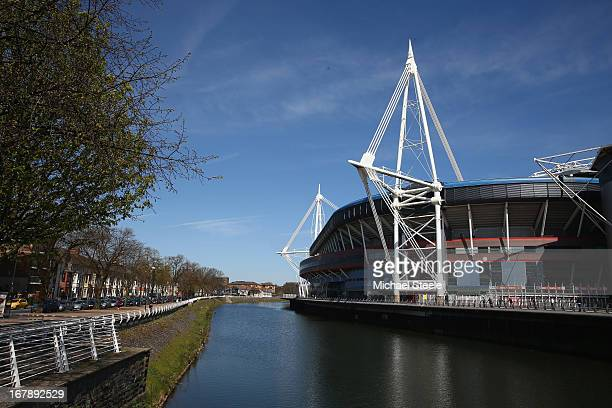 General views of the Millennium Stadium on May 2 2013 in Cardiff Wales The 13 Match Venues and Host Cities selected are Twickenham Stadium Wembley...
