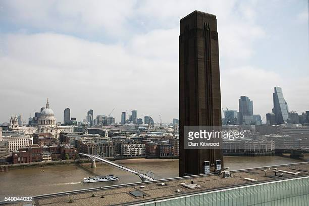 General views of the new restaurant on Level 9 at the Switch House Tate Modern on June 9 2016 in London England The restaurant opens to the public on...