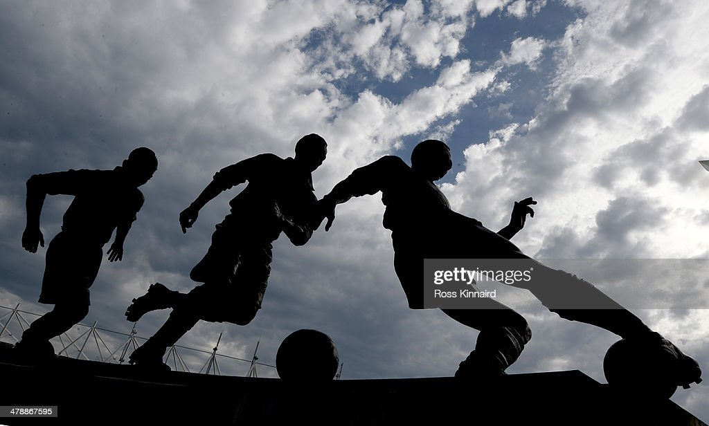 General views of the Sir Stanley Matthews statue before the Barclays Premier League match between Stoke City and West Ham United at the Britannia Stadium on March 15, 2014 in Stoke on Trent, England.