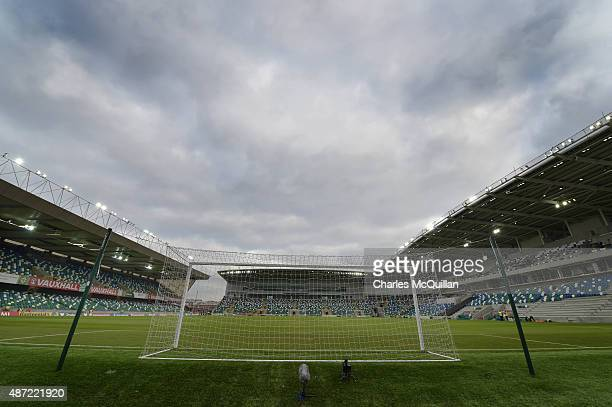 General views of the stadium before the Euro 2016 Group F qualifying match between Northern Ireland and Hungary at Windsor Park on September 7 2015...
