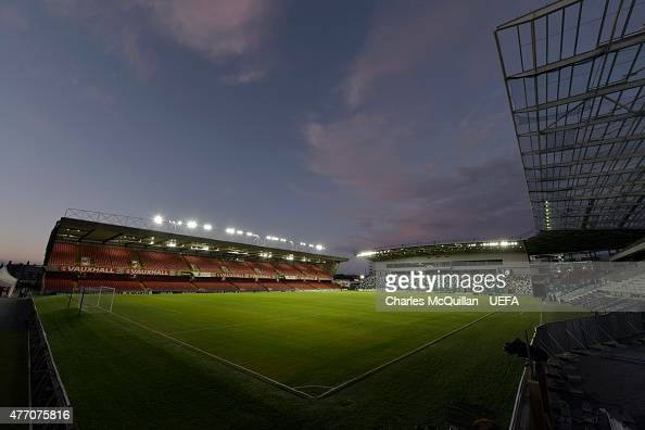 General views of the stadium during the UEFA Euro 2016 Group F qualifier between Northern Ireland and Romania at Windsor Park on June 13 2015 in...